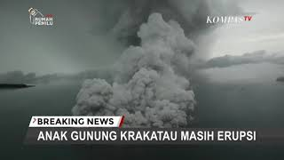 Aerial video of Indonesia volcano eruption