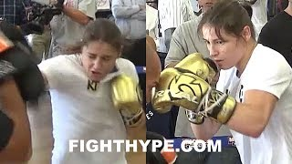 (HOLY SH*T!!!) KATIE TAYLOR DISPLAYS SERIOUS POWER; CRACKING MITTS WITH DEVASTATING PUNCHES