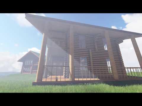 2 Katlı Kütük ev