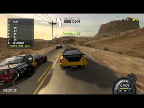 Need for Speed Pro Street Nissan Skyline GT R R34 Speed Challenge Nevada