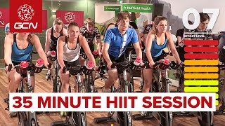 HIIT - 35 Minute Cycle Training Workout - Hill Training