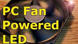 FREE ENERGY. How to power LED with PC fan, Free energy, fan alternator/generator