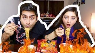 CHING'S HOT GARLIC NOODLE  CHALLENGE | INDIAN FOOD MUKBANG