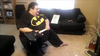 Fat cunt rages and breaks his xbox