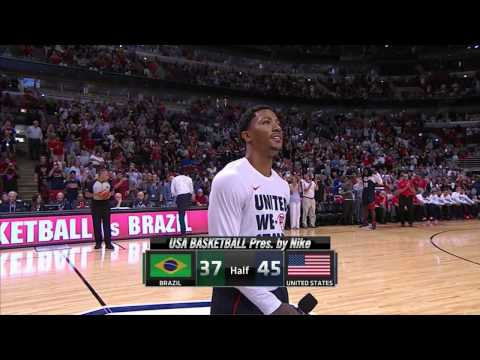 watch USA Basketball  Brasil vs USA  Friendly Match HD