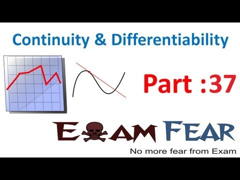 Maths Continuity & Differentiability part 37 (Mean Value theorem) CBSE Mathematics XII 12