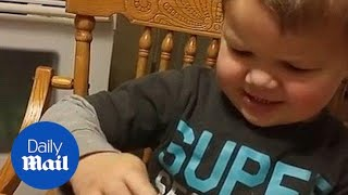 Hilarious moment kid refuses to eat dinner saying it