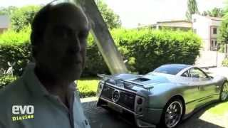 Evos Harry Metcalfe collects his Pagani Zonda from the factory