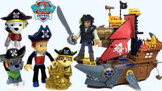 PATRULLA CANINA CACHORROS PIRATES CON RIDER RUBBLE CHASE MARSHALL Y ROCKY - PAW PATROL PIRATE PUPS