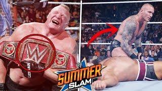 7 Errores De WWE Summerslam 2017