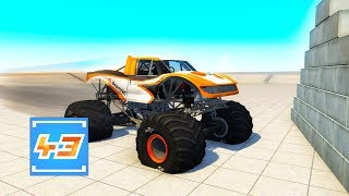 WILL THIS MONSTER TRUCK SURVIVE THESE INSANE TESTS? (BeamNG Drive)