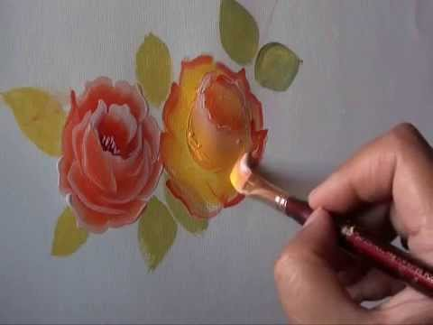 Rose painting a simple way tutorial 10