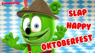 Gummibär's Slap Happy German Oktoberfest Dance ☺ Gummy Bear Oktoberfest Music For Kids ☺