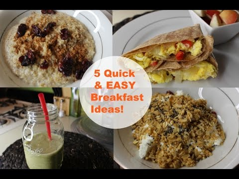 5 Quick, Easy & Healthy Breakfast Ideas 2016 | Agnes Giron
