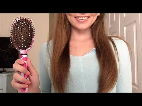 ASMR LONG HAIR Brushing and Hair Play