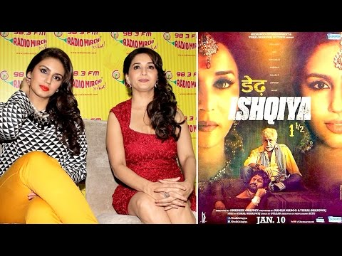 S**Y Madhuri Dixit and Huma Qureshi at Radio Mirchi fro Dedh Ishqiya Promotion