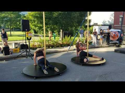 Paint It Black pole routine at 80/35 festival