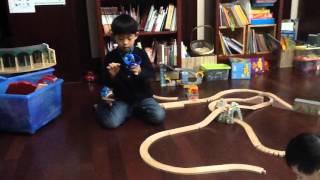 Andy's toy review- thomas and ninjago