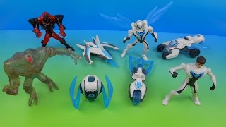 2014 MAX STEEL SET OF 8 McDONALD'S HAPPY MEAL KID'S TOY'S VIDEO REVIEW