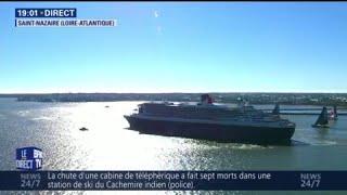 Coup d'envoi de la course The Bridge, à Saint-Nazaire