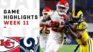 Chiefs vs. Rams Week 11 Highlights | NFL 2018