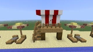 Minecraft Beach life Guard Tower