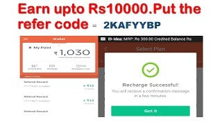 Best Free Mobile Recharge app | Earn Upto Rs-10000