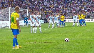 Neymar vs Argentina HD 1080i | English Commentary (16/10/2018) By Matan JR