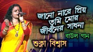 Bengali Lokgeeti   Bijoy Sarkarer Gaan   Tumi jano na re priyo   SUKLA BISWAS      তুমি জানো নারে