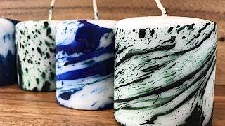 Tie-Dye Pillar Candle Tutorial