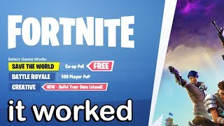 You can ACTUALLY Get Save The World FREE in Season 7
