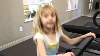 Catie on the Treadmill...5 min...twice!