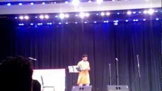 Surojit Bandyopadhyay singing Rabindra Sangeet - Indianapolis Oct 2012