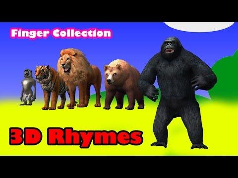 Dinosaurs Vs Godzilla Cartoons|| Lion Vs Tiger  Finger Family Children Nursery Rhymes