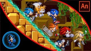 Team Sonic in Labyrinth Zone