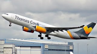 Plane Spotting at Manchester Airport (MAN) | Lots of Heavy Departures | 2016 | ✈