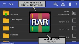 Cara compress file highly compress dengan aplikasi RAR di android