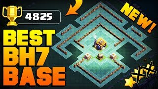 BEST Builder Hall 7 Base w/ PROOF!!   CoC BH7 GIANT CANNON Update Base!   Clash of Clans