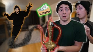 Ancient GENIE LAMP Grants Us 3 WISHES! *1 MILLION DOLLARS* (You WON