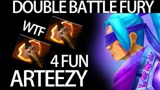 2x Battle Fury + Aghanim's WTF Build Anti Mage by Arteezy 9k MMR Pro Player Dota 2