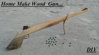 How to make a toy Wood Gun using Catapult at home