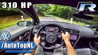 2018 VW Golf R 310HP POV Test Drive by AutoTopNL