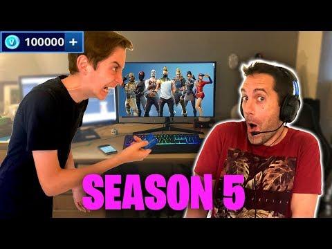 Crazy Dad spends £1000 on Fortnite Season 5 Prank Gone Wrong 😂