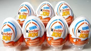 7x Kinder Joy Surprise Eggs​​​