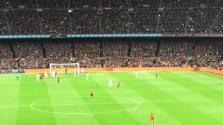El Clasico goal - Pique goal live reaction Barca - (pique header)