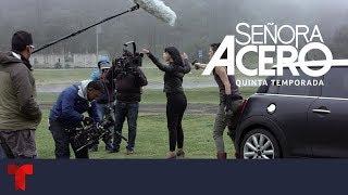 Señora Acero 5 | Detrás de cámaras: La pelea de Vicenta y Sofía | Telemundo
