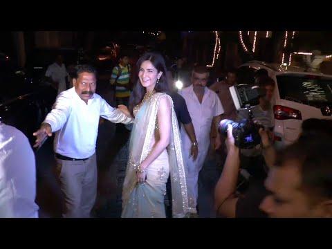 Ranbir Kapoor and Katrina Kaif spotted at Anil Kapoor's Diwali Party 2015.