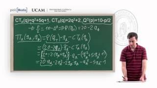Microeconomía II -  La Competencia Monopolística y el oligopolio: Ejercicio (1) - Alfonso Rosa