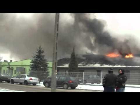 Ostrów Wlkp.Pożar sortowni śmieci w MZO.