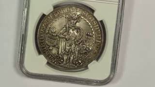 1486 Austria Guldiner Silver Thaler NGC MS67 1953 Restrike First Dollar Sized Coin